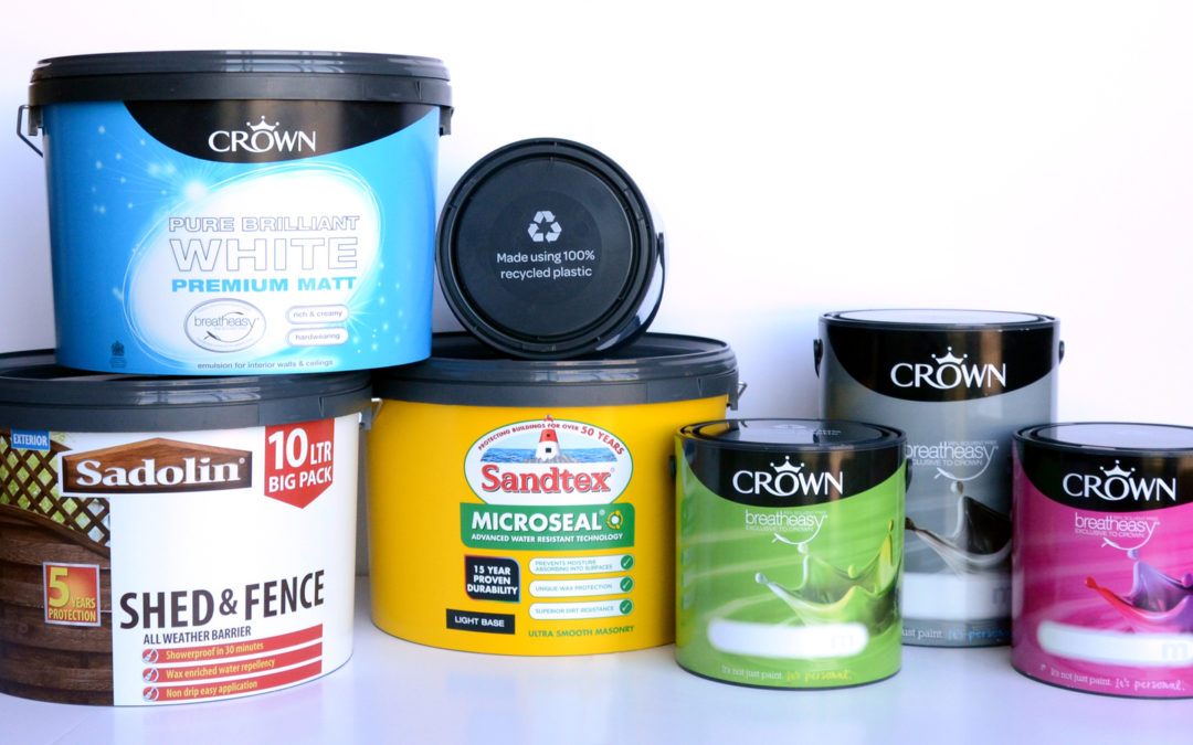 Crown Paints introduces 100 per cent recycled plastic containers