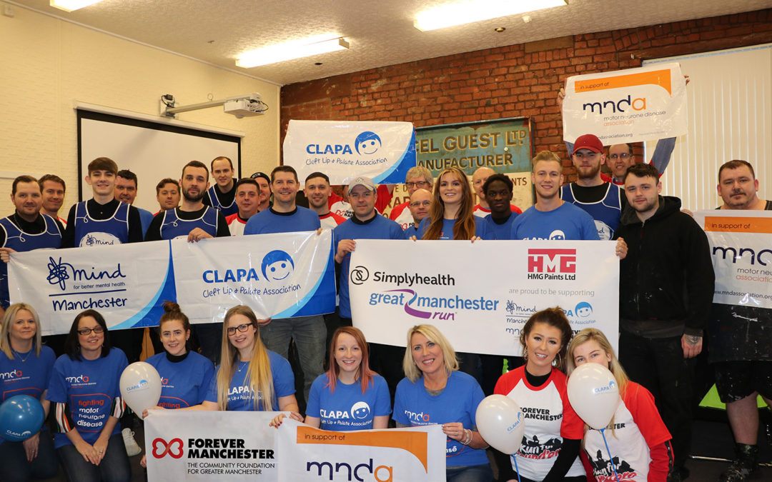 HMG Paints Support Local Charities