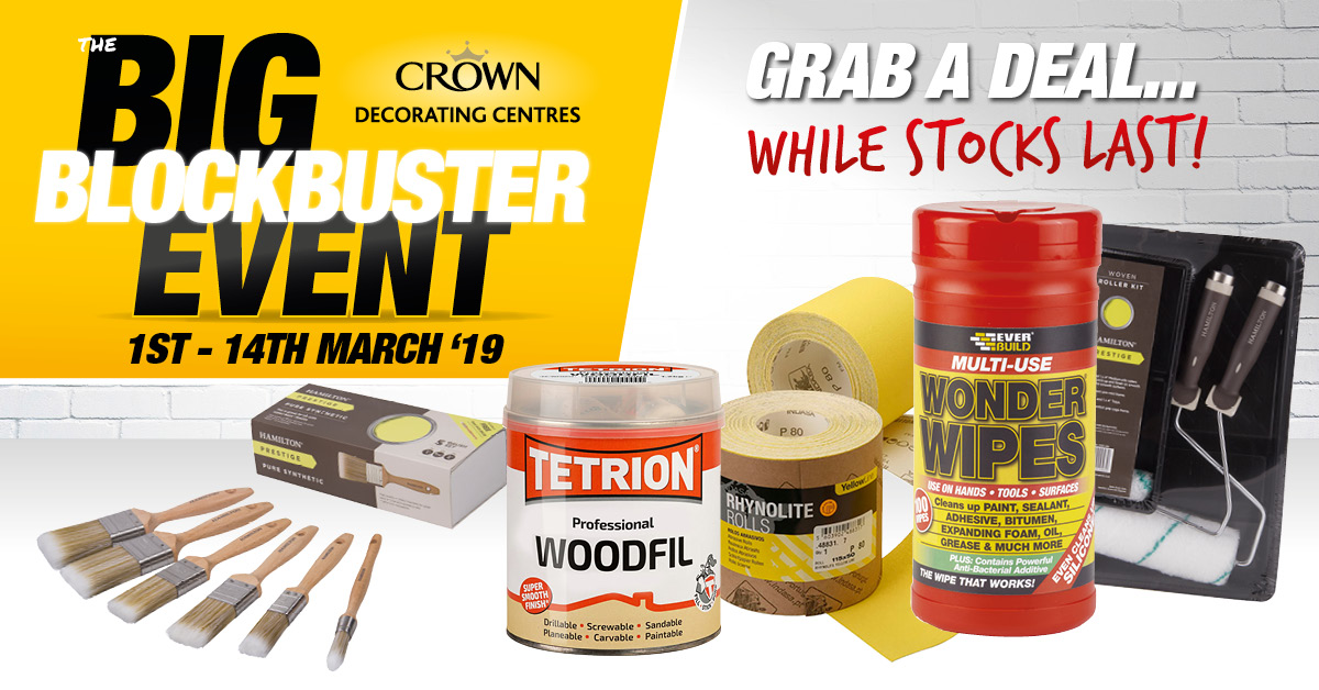 Bargains Galore Crown Decorating Centres, brush