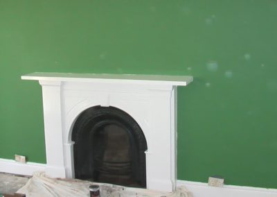 Work Carried Out, painting fireplace