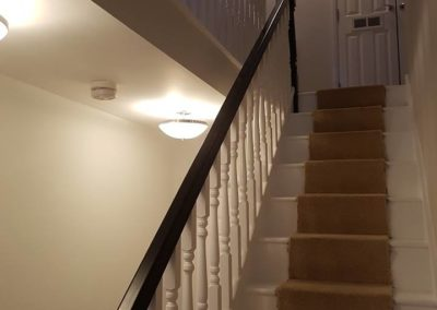 decorating to hallway using dulux trade paint
