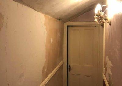 hallway restoration, paint