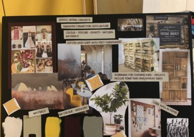 A mood board used for the refurbishment of Brockholes Nature Reserve