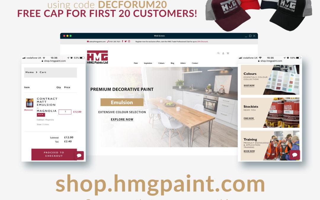 HMG Paints launch E-commerce store