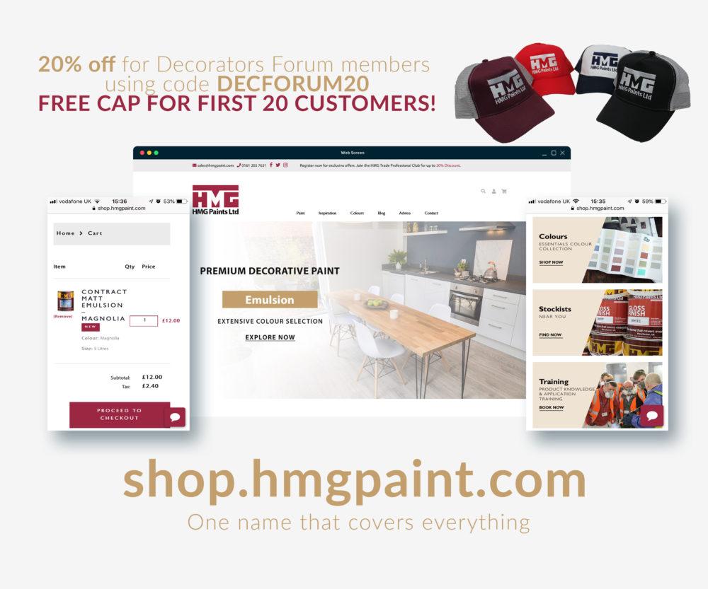 hmg paint discount code