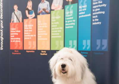 The Dulux Dog opens the new Dulux Academy space at Leeds College of Building