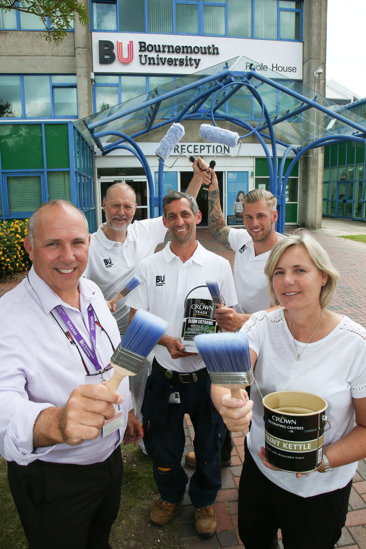 CROWN PAINTS A BRIGHT FUTURE WITH BOURNEMOUTH UNIVERSITY, crown trade