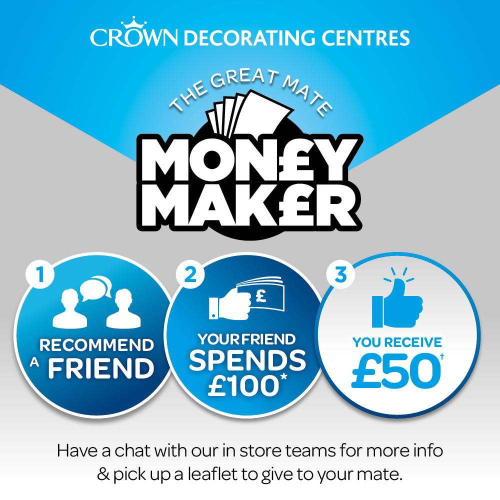 CROWN DECORATING CENTRES OFFERS MATES' RATES, customers