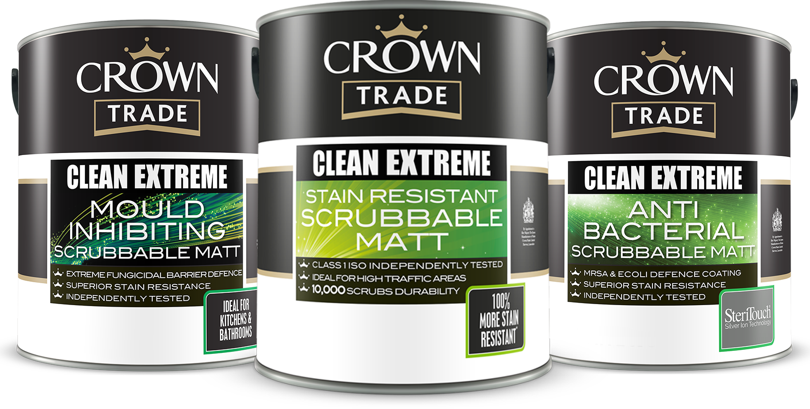 CROWN TRADE TAKES CLEAN TO THE EXTREME, paint