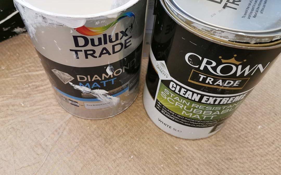 Trade Durable Matt Emulsion, dulux, crown and johnstone'sReview