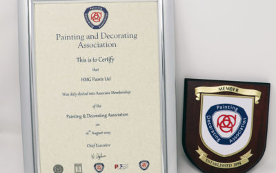 HMG Paints have Announced Becoming Associate of the Painting and Decorating Association