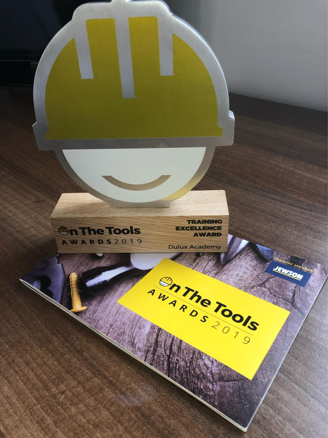 Dulux Academy has been announced as the winner of the On The Tools Training Excellence Award for the second year running.