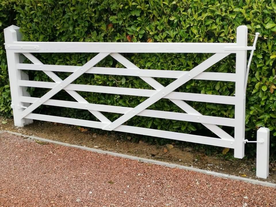 bullseye 123 on an exterior gate