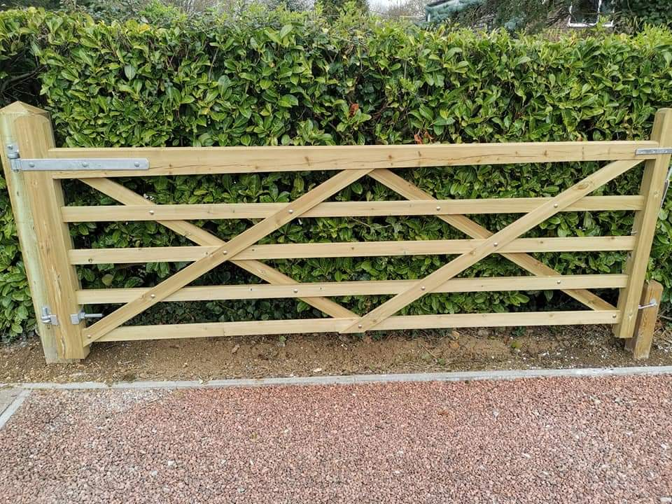 tanilised gate before painting