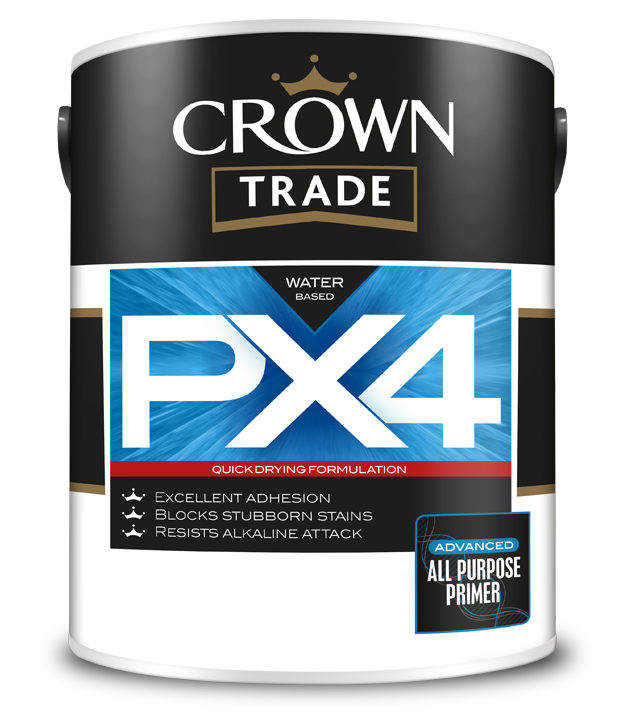 Crown Trade PX4 Primer Review - water based adhesion primer