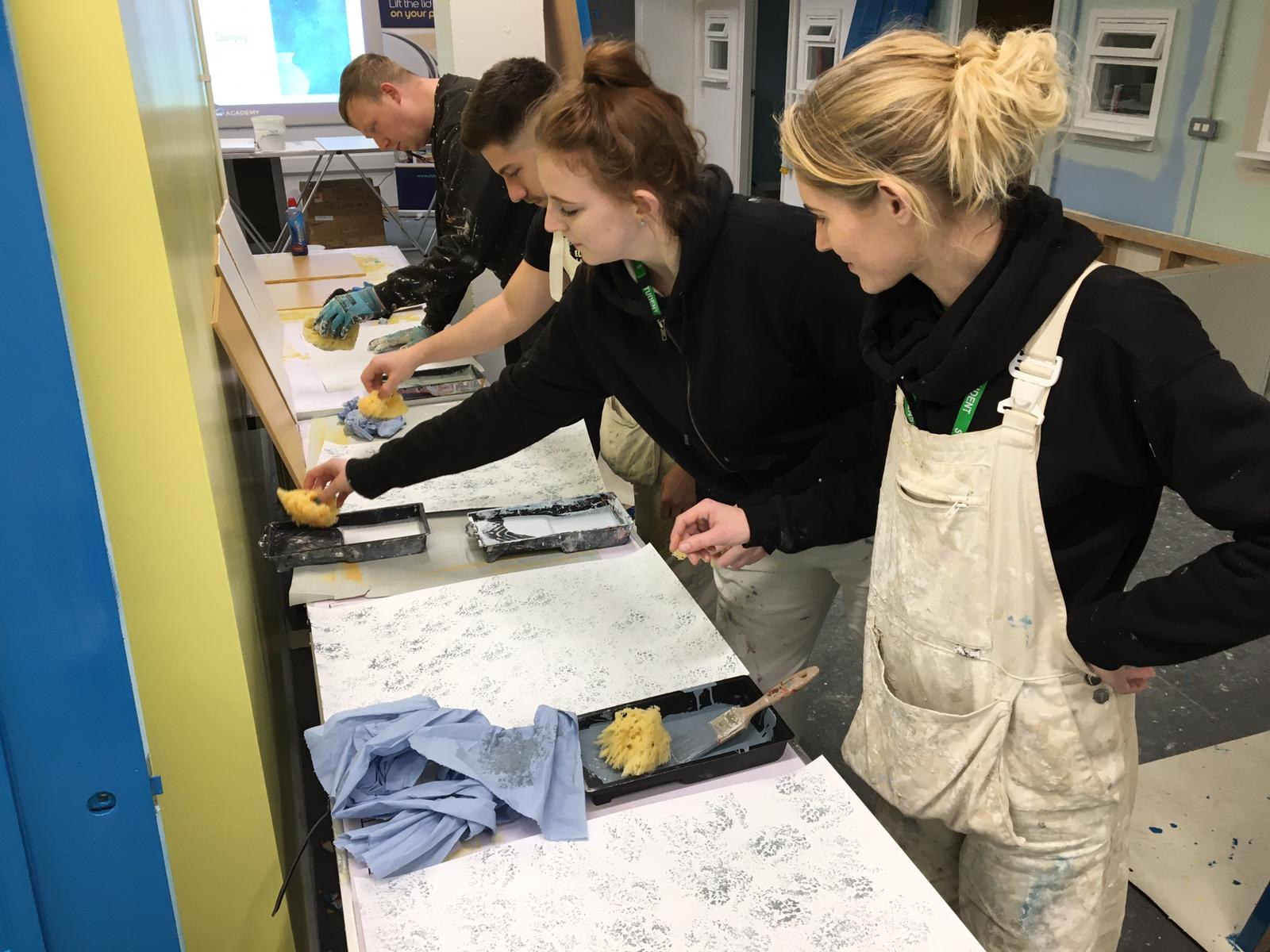 National Apprenticeship Week at the Dulux Academy painting and decorating