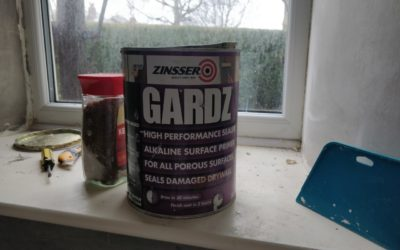 Zinsser Gardz before hanging wallpaper