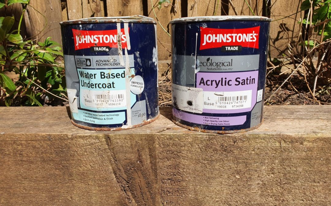 Decorators Review Johnstone's Aqua system - the best water-based gloss, satin and undercoat on the market