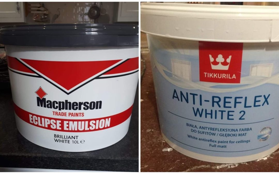 Macphersons Eclipse Vs Tikkurila Anti-Reflex, which is the best paint to use on a ceiling