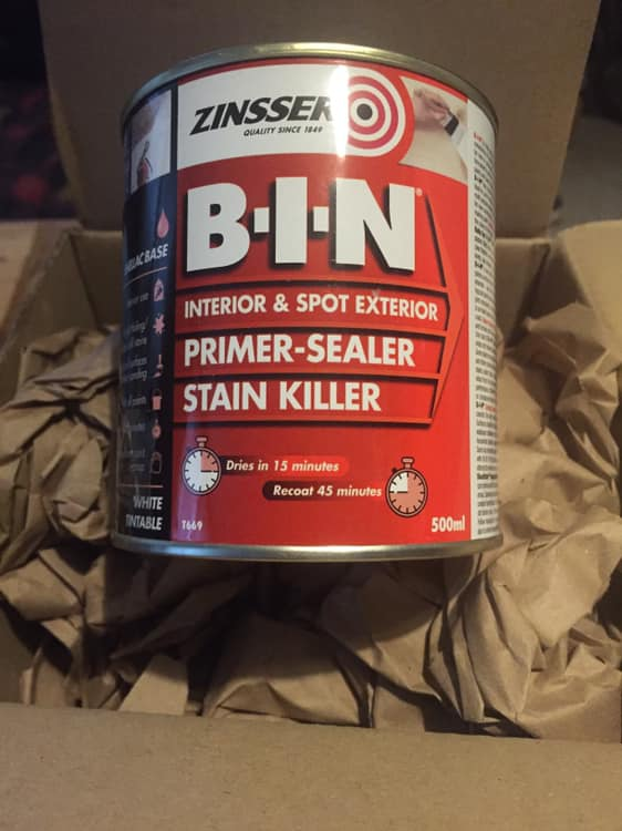Zinsser BIN Review – Shellac Based Primer, stain block and adhesion