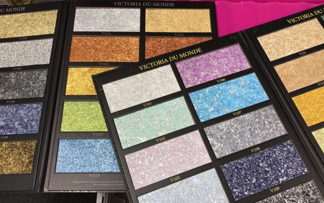 The Best way to Make a Glitter Wall - silk plaster samples