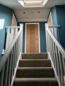 Tikkurila Optiva 5 which is a durable matt emulsion and great for a hallway
