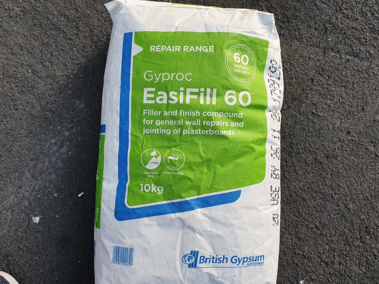 Gyproc EasiFill Review - interior powder filler and coving adhesive