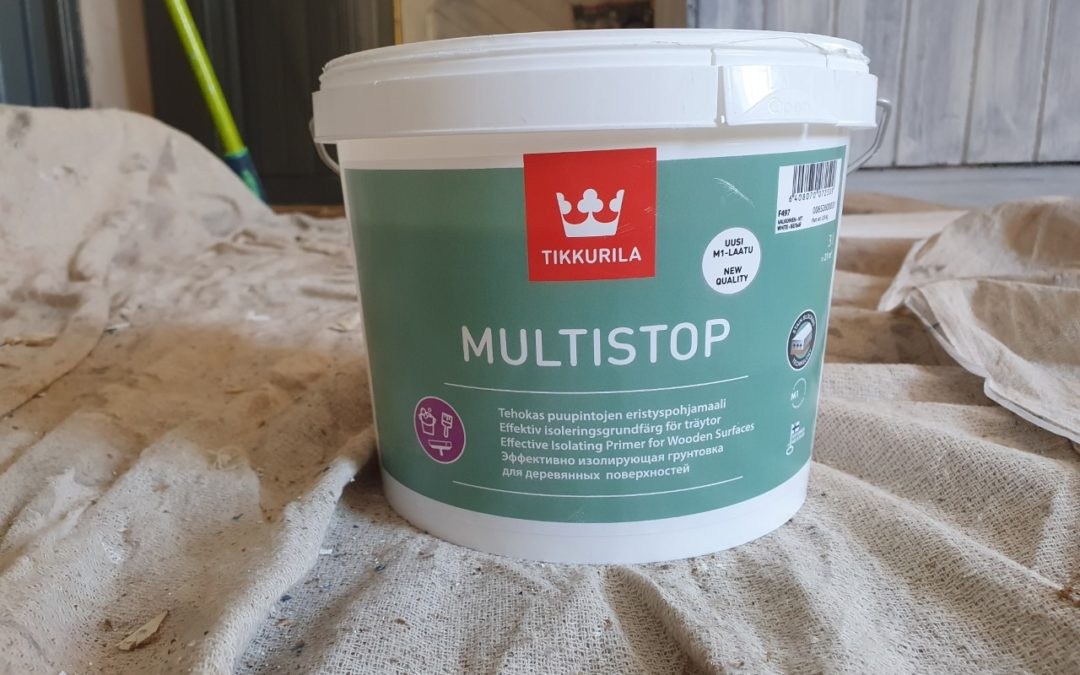 Tikkurila Multistop review. A water-based stain block undercoat / primer for bare timber