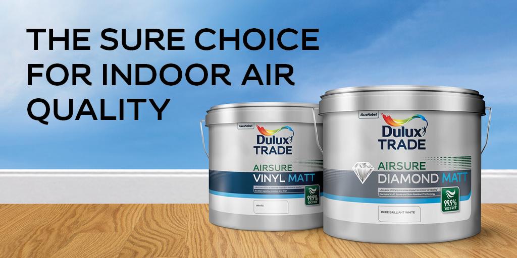 Dulux Trade Introduces 99.9% VOC-free1d Airsure Range